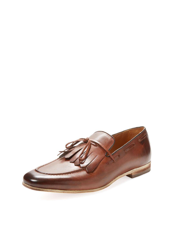 【65%OFF】レザー キルティタッセル ローファー ブラウン 9 ファッション > 靴~~メンズシューズ