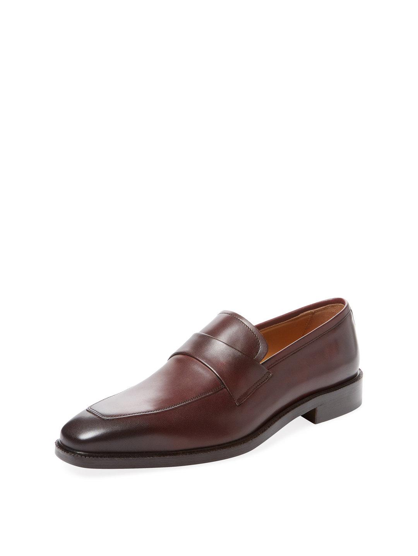 【62%OFF】レザー サドル ローファー ボルドー 9 ファッション > 靴~~メンズシューズ