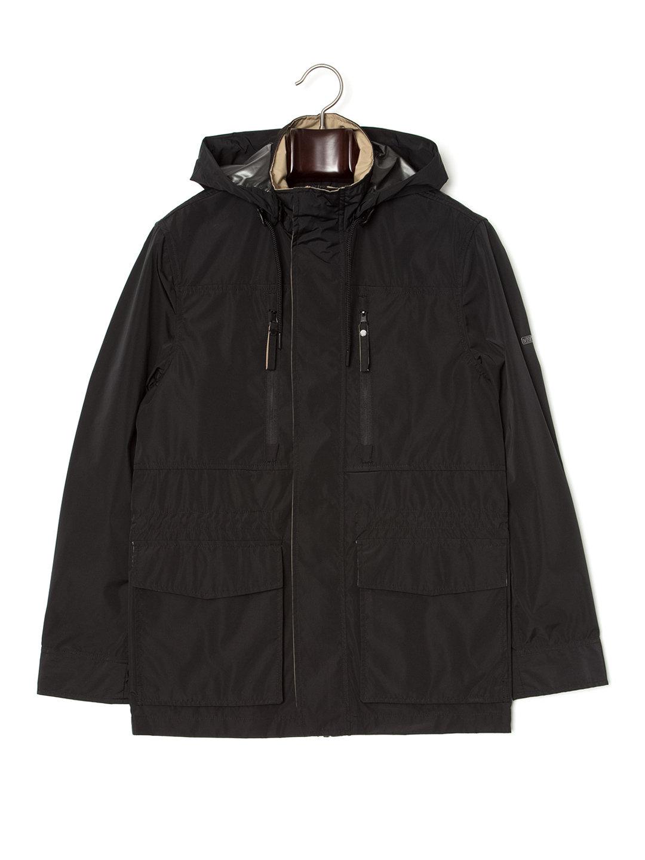 【80%OFF】フード付 比翼 フィールドジャケット ブラック xxs ファッション > メンズウエア~~ジャケット