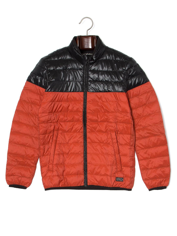 【70%OFF】バイカラー フルジップ キルティング ジャケット レッド s ファッション > メンズウエア~~ジャケット