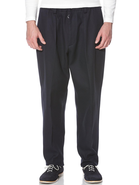 【80%OFF】KAYS タック センタープレス バギーパンツ ネイビー s ファッション > メンズウエア~~パンツ