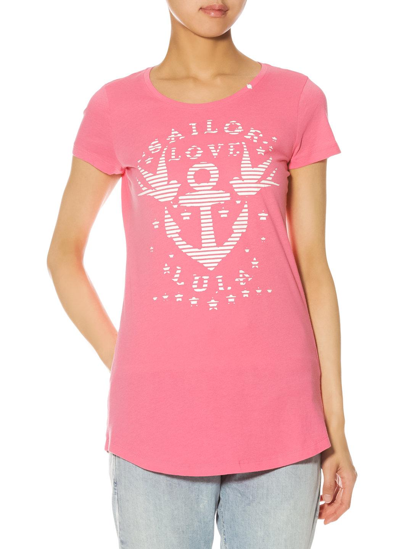 【62%OFF】KILIAM SAILOR LOVE ロング丈 Tシャツ ピンク xs ファッション > レディースウエア~~その他トップス