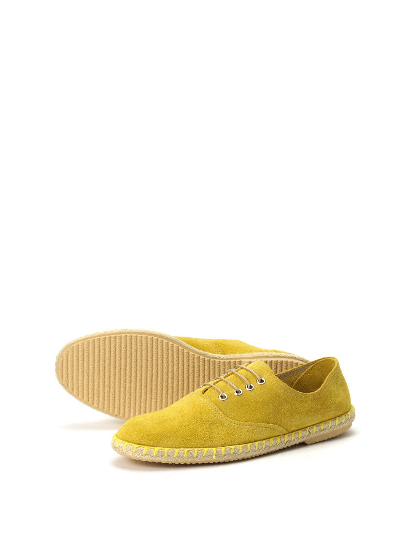 【50%OFF】スエード エスパドリーユ風 レースアップシューズ イエロー 41 ファッション > 靴~~メンズシューズ