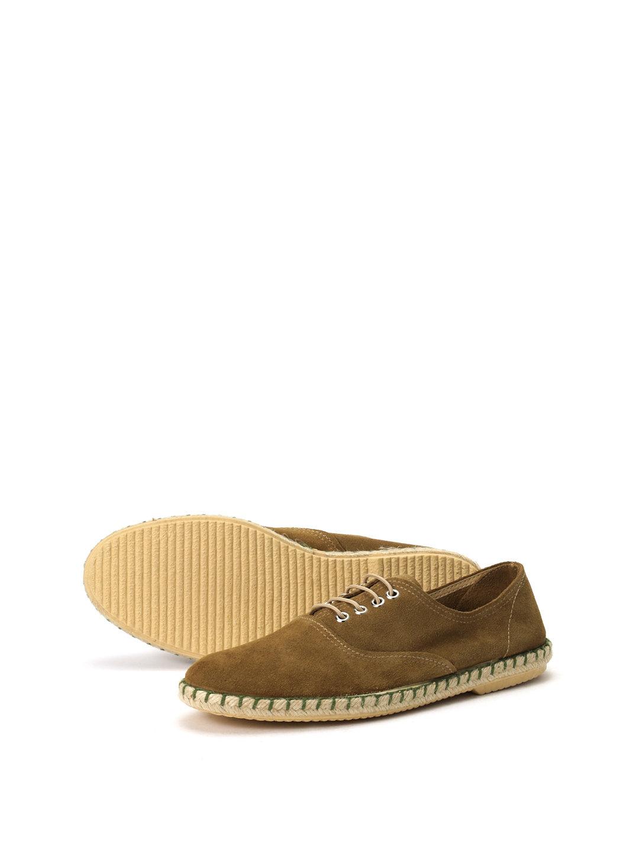 【50%OFF】スエード エスパドリーユ風 レースアップシューズ カーキ 42 ファッション > 靴~~メンズシューズ