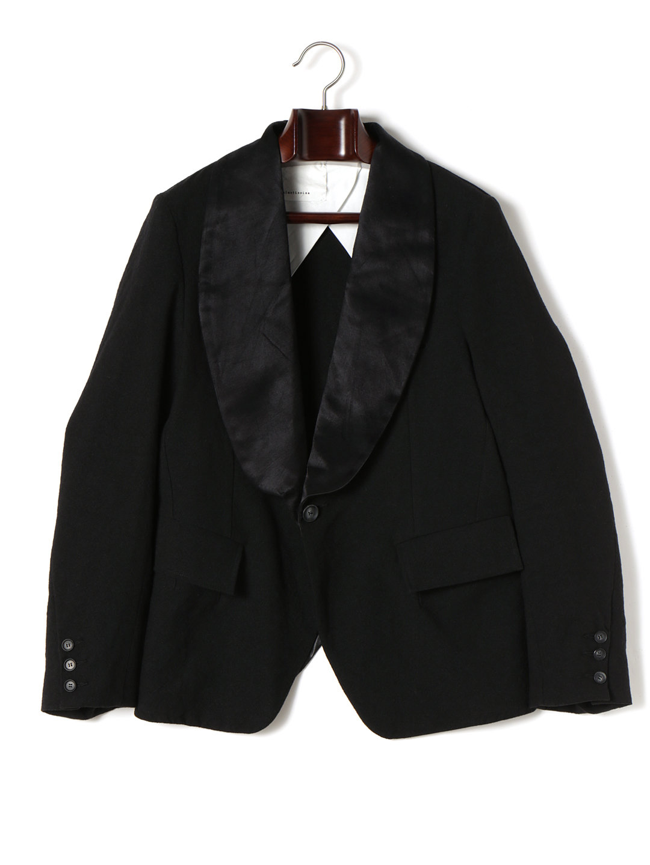 【70%OFF】ショールカラー テーラードジャケット ブラック s ファッション > メンズウエア~~ジャケット