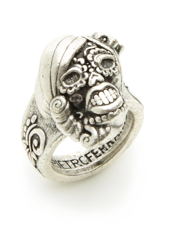 【68%OFF】スカルデザイン ボールドリング シルバー l ファッション > アクセサリー~~指輪~~メンズ リング