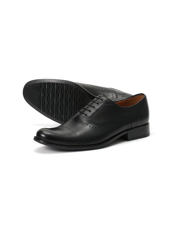 【50%OFF】レザー パンチング レースアップシューズ ブラック 40 ファッション > 靴~~メンズシューズ