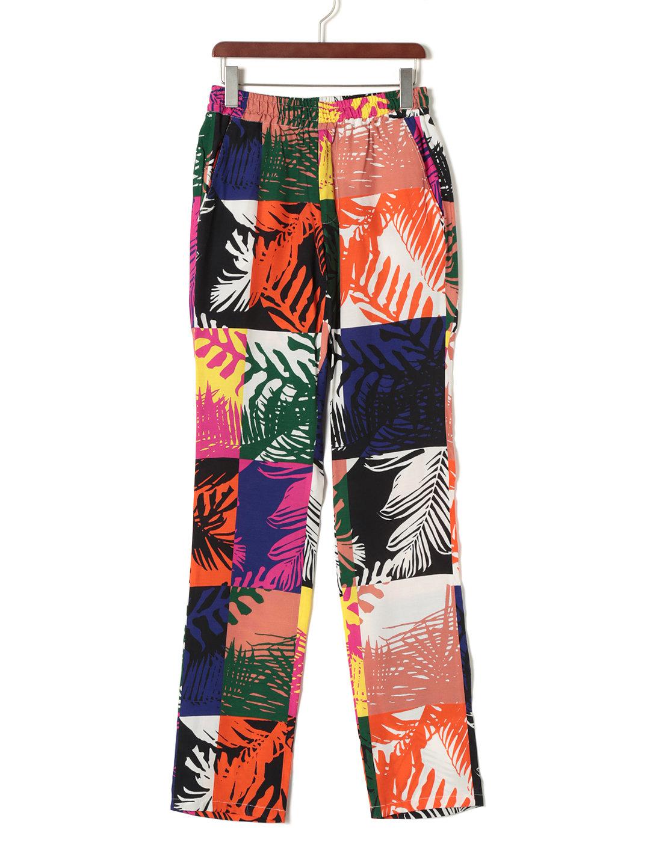 【70%OFF】デザイン柄 ウエストシャーリング パンツ マルチカラー 46 ファッション > メンズウエア~~パンツ