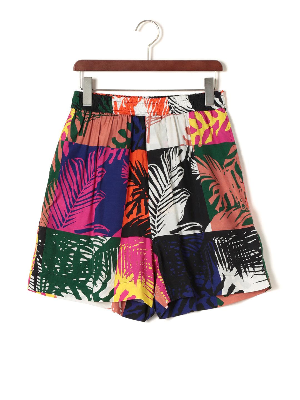 【70%OFF】デザイン柄 ウエストシャーリング ショートパンツ マルチカラー 48 ファッション > メンズウエア~~パンツ