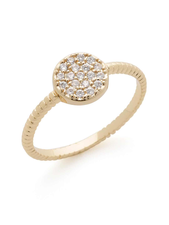 【49%OFF】ジルコニア パヴェ リング ゴールド 7 ファッション > アクセサリー~~指輪~~レディース リング