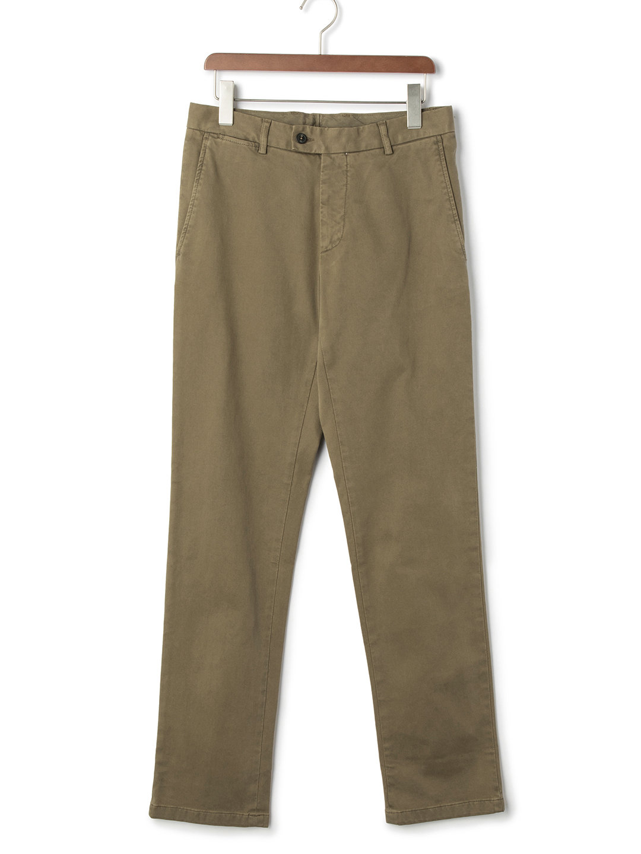 【80%OFF】ウォッシュ加工 フロントタブ パンツ ダークベージュ 44 ファッション > メンズウエア~~パンツ