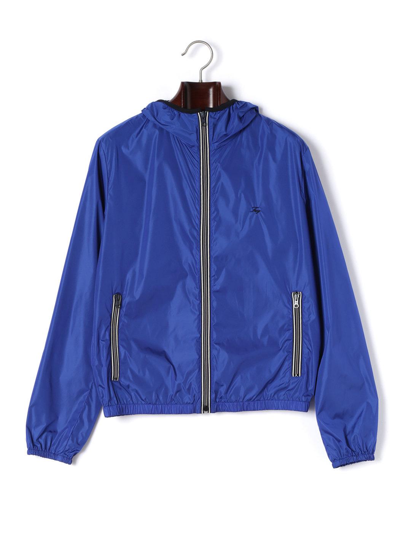 【80%OFF】フーデッド ジップアップ ジャケット ブルー l ファッション > メンズウエア~~ジャケット