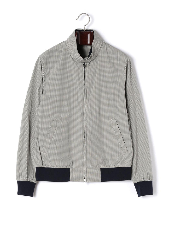 【80%OFF】ピンチェック ダブルジップ 2WAY襟 ブルゾン ベージュ s ファッション > メンズウエア~~ジャケット