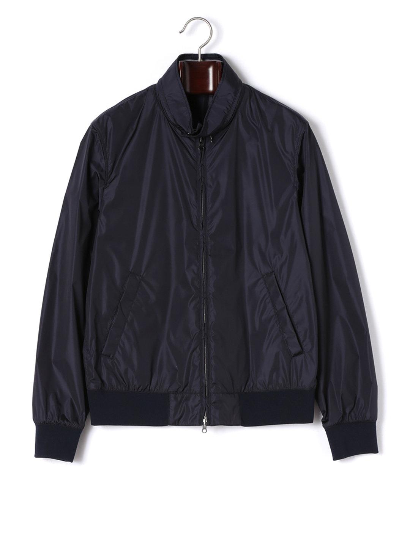 【80%OFF】ダブルジップ 2WAY襟 ブルゾン ネイビー xs ファッション > メンズウエア~~ジャケット