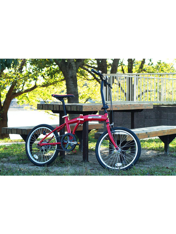 【31%OFF】Ferrai FDB20 折りたたみ 自転車 レッド 自転車・車・バイク用品 > 自転車~~シティサイクル
