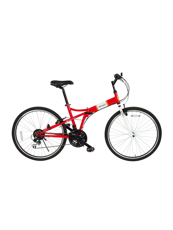【36%OFF】RENAULT FDB26 18S 折りたたみ 自転車 レッド 自転車・車・バイク用品 > 自転車~~シティサイクル