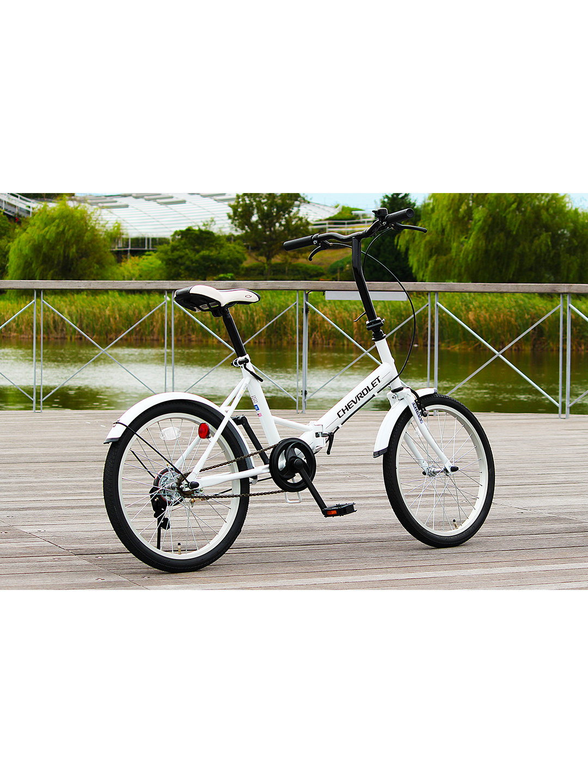 【19%OFF】CHEVROLET FDB20E 折りたたみ 自転車 ホワイト 自転車・車・バイク用品 > 自転車~~シティサイクル