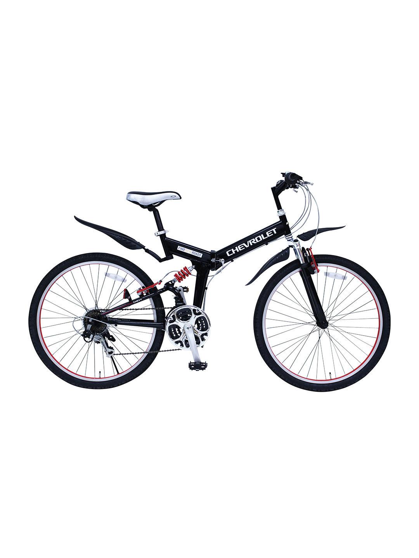 【19%OFF】CHEVROLET 折りたたみ 自転車 ブラック 自転車・車・バイク用品 > 自転車~~シティサイクル