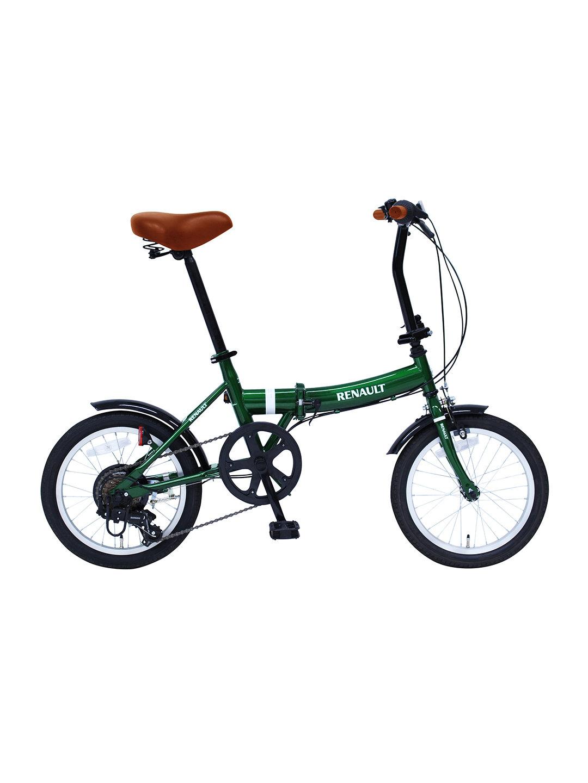 【19%OFF】RENAULT FDB166 折りたたみ 自転車 グリーン 自転車・車・バイク用品 > 自転車~~シティサイクル