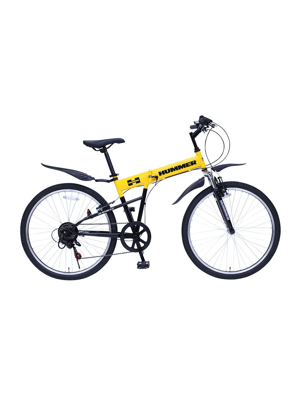 【27%OFF】HUMMER 折りたたみ 自転車 イエロー 自転車・車・バイク用品 > 自転車~~シティサイクル