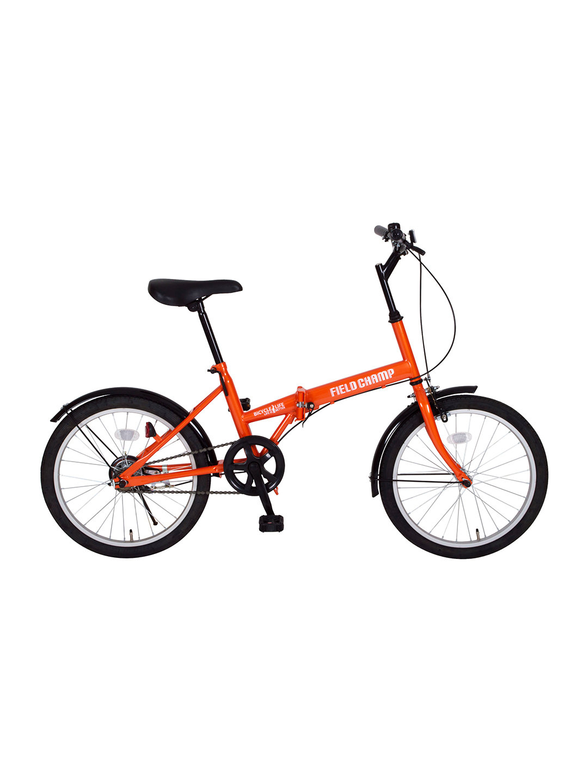 【27%OFF】FIELD CHAMP FDB20 折りたたみ 自転車 オレンジ 自転車・車・バイク用品 > 自転車~~シティサイクル