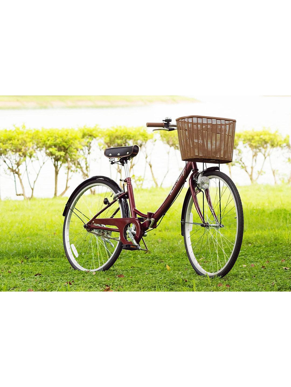【27%OFF】Classic Mimugo FDB26 折りたたみ 自転車 クラシックレッド 自転車・車・バイク用品 > 自転車~~シティサイクル