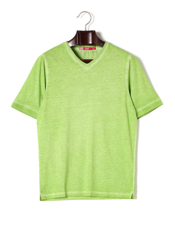 【80%OFF】Vネック 半袖Tシャツ キウイ s ファッション > メンズウエア~~その他トップス