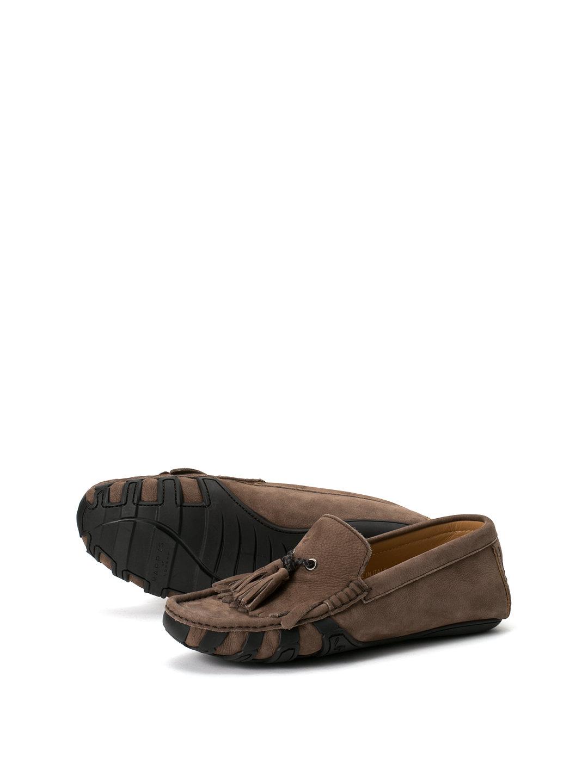 【80%OFF】ヌバック タッセル ドライビングシューズ トープ 38 ファッション > 靴~~メンズシューズ