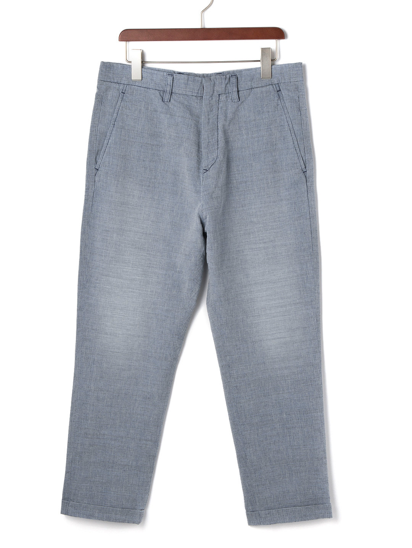 【70%OFF】ウォッシュ加工 クロップド サルエルデニム インディゴ 31 ファッション > メンズウエア~~パンツ