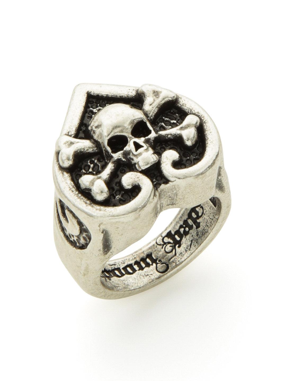 【68%OFF】スカルデザイン ボールドリング シルバーブラック s ファッション > アクセサリー~~指輪~~メンズ リング