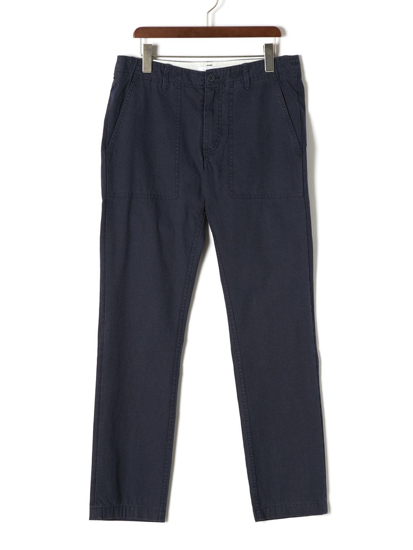 【70%OFF】FATIGUE ウォッシュ テーパード カラーパンツ ネイビー 30 ファッション > メンズウエア~~パンツ