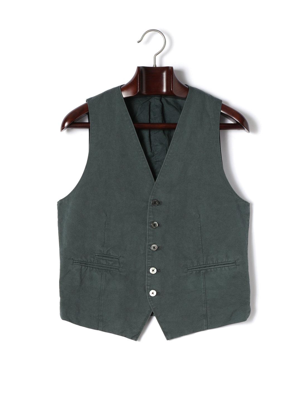 【70%OFF】バックベルテッド ジレ モスグリーン m ファッション > メンズウエア~~スーツ