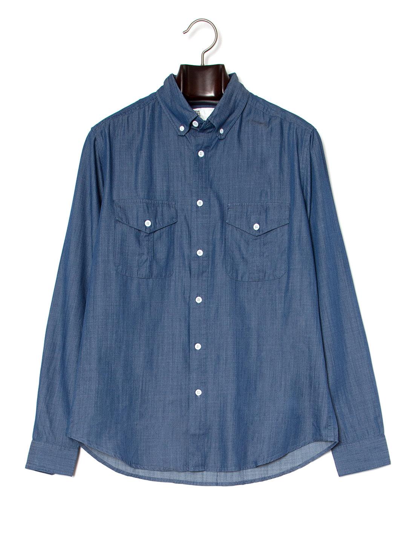 【70%OFF】ボタンダウン 長袖 シャツ ブルー xl ファッション > メンズウエア~~その他トップス