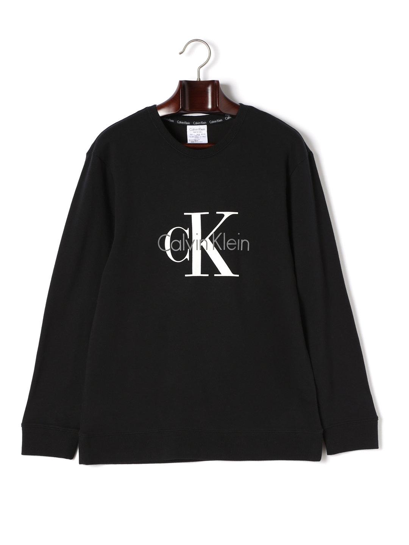 【30%OFF】Calvin Klein Origins クルーネック 長袖プルオーバー ブラック 4 ファッション > メンズウエア~~その他トップス