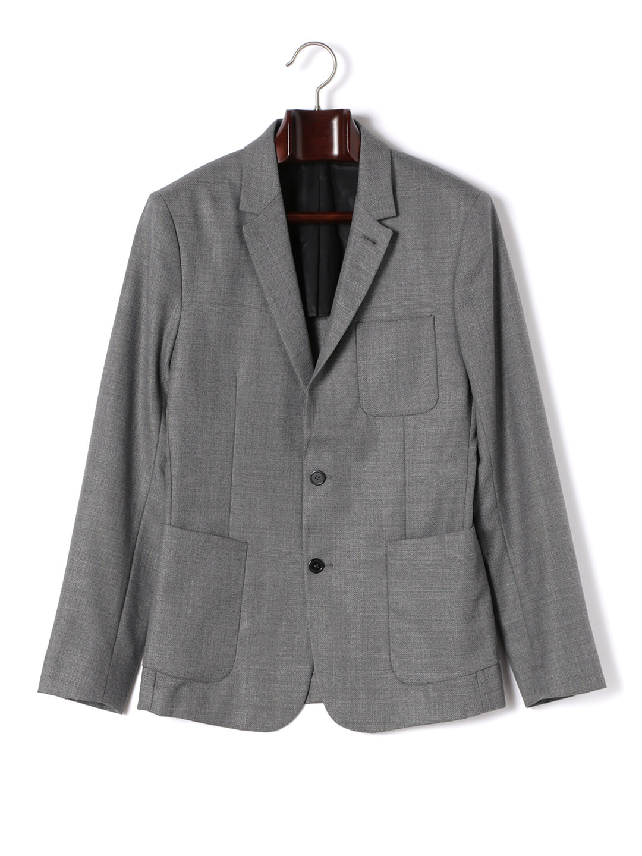 【70%OFF】ノッチドラペル テーラードジャケット グレー 50 ファッション > メンズウエア~~スーツ