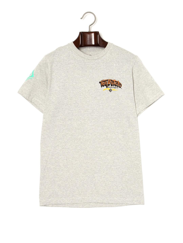 【70%OFF】CALI STYLE クルーネック 半袖Tシャツ コンクリート m ファッション > メンズウエア~~その他トップス