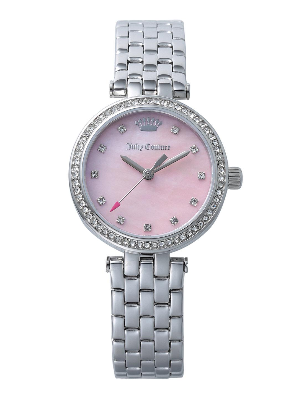【70%OFF】CALI ラウンド ビジュー ステンレスベルト ウォッチ シルバー ファッション > 腕時計~~レディース 腕時計