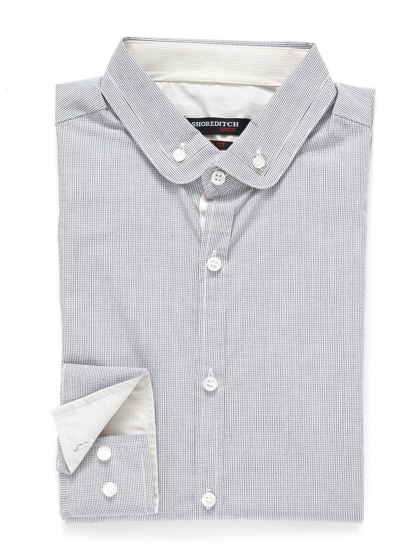 【70%OFF】配色 ボタンダウン ショートカラー 長袖シャツ グレー m ファッション > メンズウエア~~スーツ