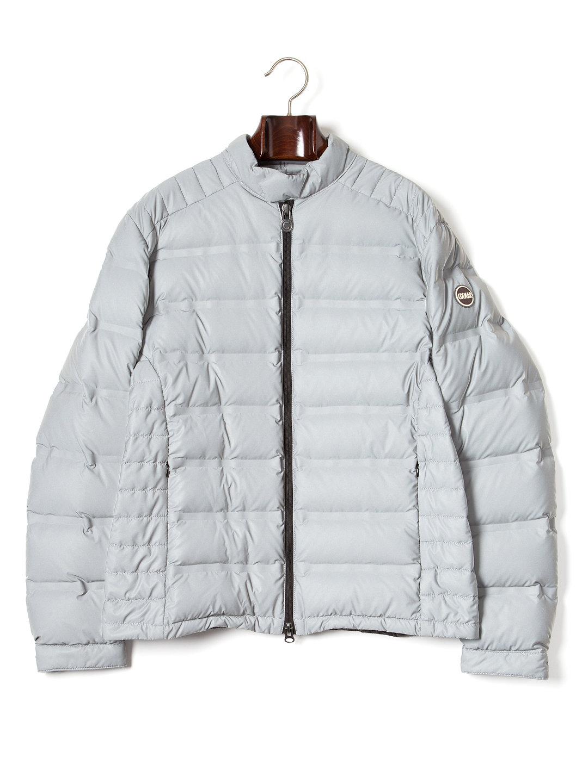 【50%OFF】スタンドカラー ダブルジップ ダウンジャケット シルバーグレー 50 ファッション > メンズウエア~~ジャケット