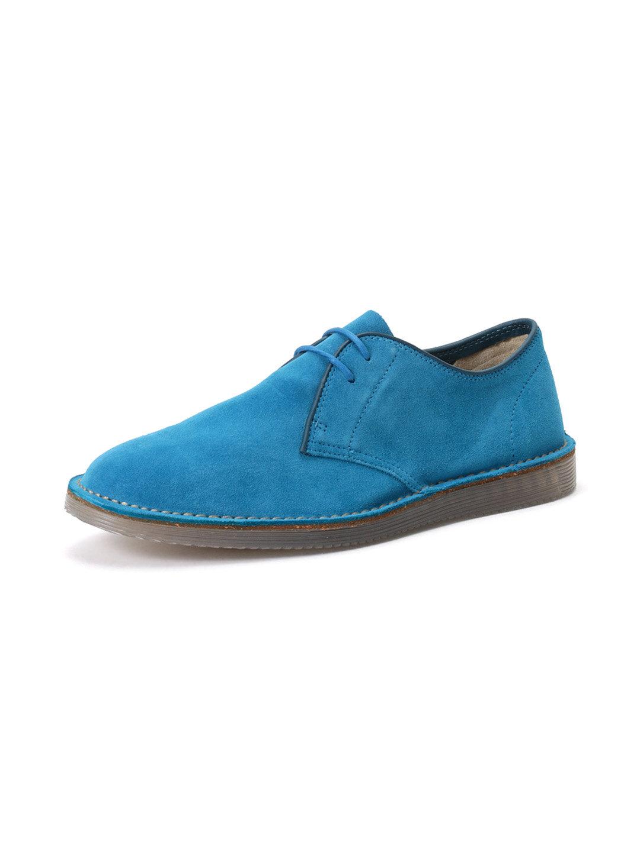 【57%OFF】Darning Walk スエード レースアップシューズ ペトロールブルー 90 ファッション > 靴~~メンズシューズ