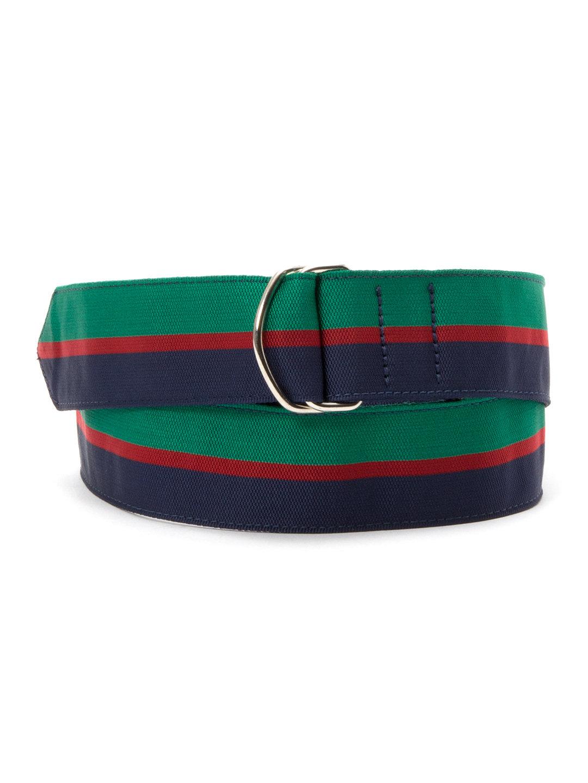 【60%OFF】Royal Welsh ラインデザイン ベルト グリーンxレッドxネイビー m ファッション > ファッション小物~~ベルト~~メンズ ベルト