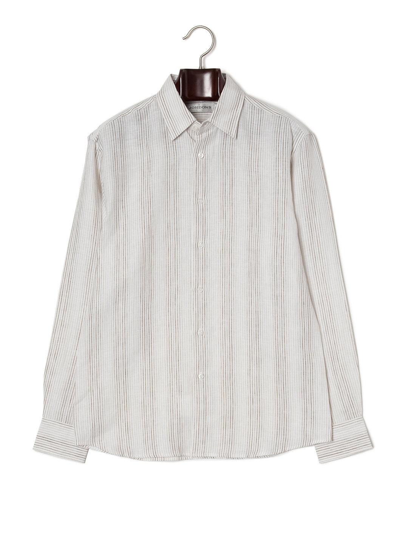 【70%OFF】ストライプ 長袖シャツ マルチ s ファッション > メンズウエア~~スーツ