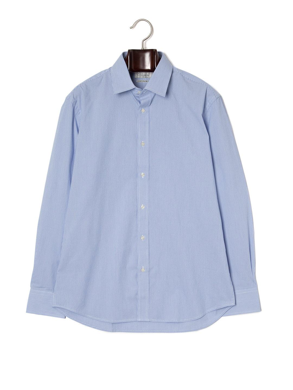 【70%OFF】ピンストライプ 長袖シャツ ブルーピンストライプ 39 ファッション > メンズウエア~~スーツ