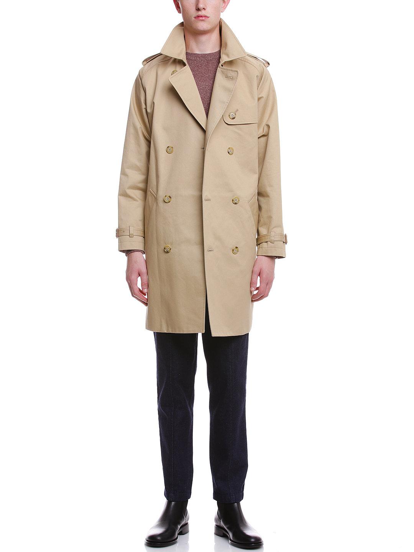 【50%OFF】ダブルブレステッド ベルト付 トレンチコート ベージュ 3 ファッション > メンズウエア~~ジャケット
