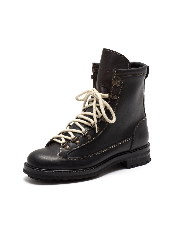 【60%OFF】MAXVERRE レザー レースアップブーツ ブラック 41 ファッション > 靴~~メンズシューズ