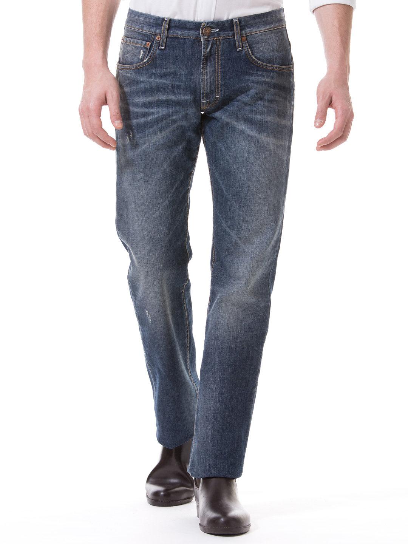 【70%OFF】MAURIZIO MIDIUM WASH ウォッシュ加工 ストレートデニム インディゴ 28 ファッション > メンズウエア~~パンツ