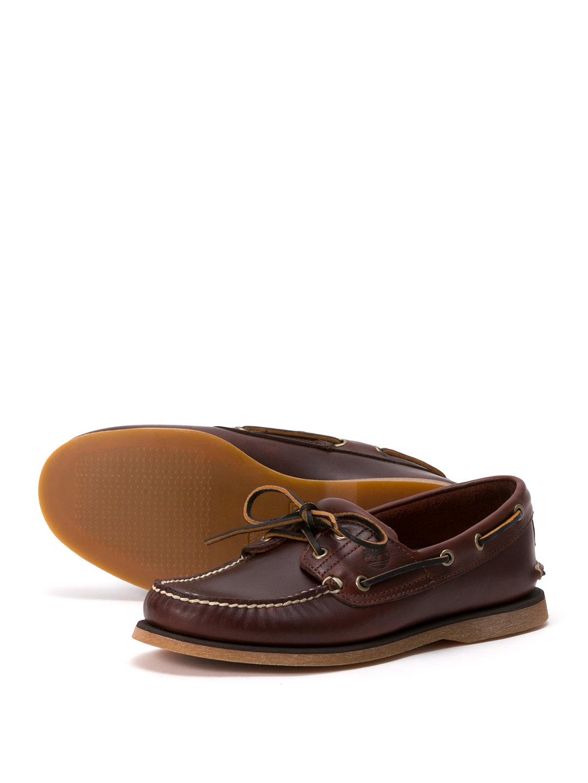 【50%OFF】CLS2I BOAT レザー デッキシューズ ルートビア 7.5 ファッション > 靴~~メンズシューズ