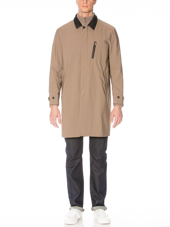 【80%OFF】JUNIPER 切替 ステンカラー 比翼 コート ベージュ m-a ファッション > メンズウエア~~ジャケット