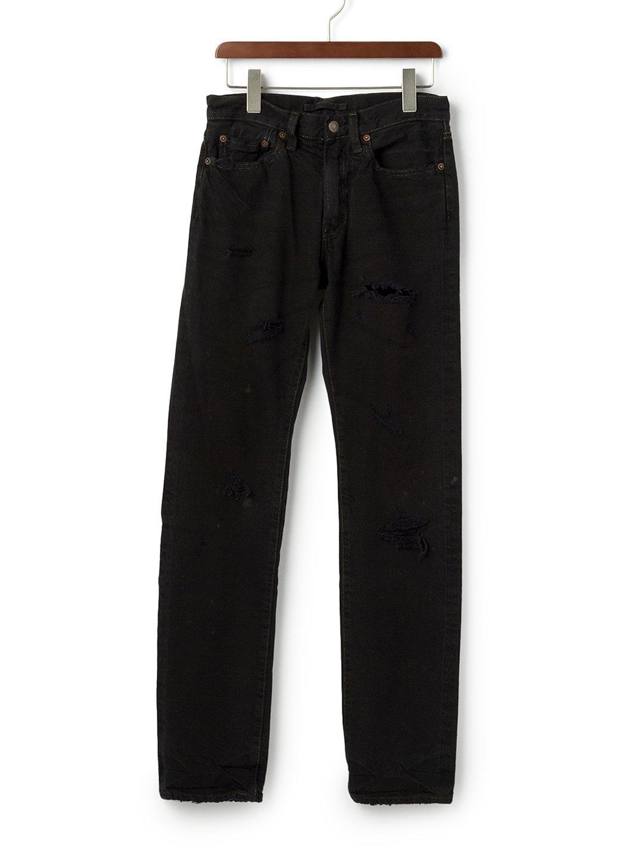 【70%OFF】ダメージ加工 ブラックデニム ブラック 44 ファッション > メンズウエア~~パンツ