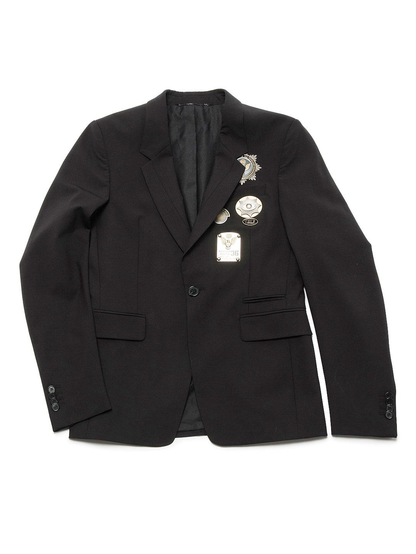 【70%OFF】モチーフ テーラードジャケット ブラック 44 ファッション > メンズウエア~~スーツ